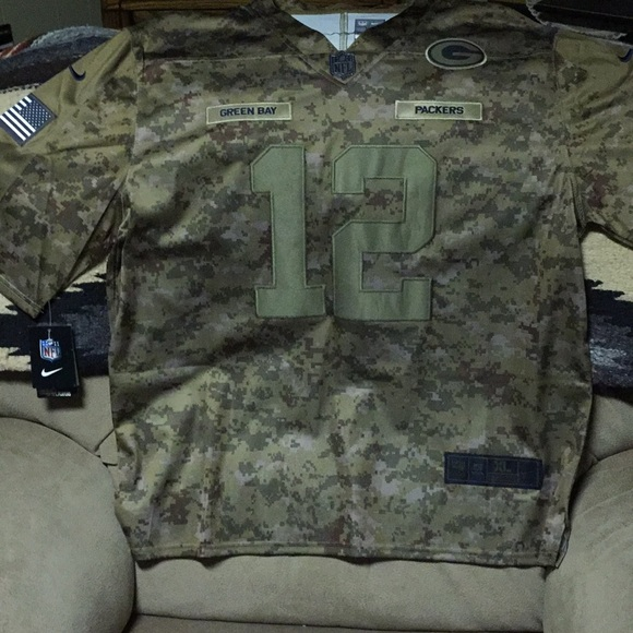the latest ba2e7 7b7f5 GreenBay Packers Salute To Service Jersey NWT